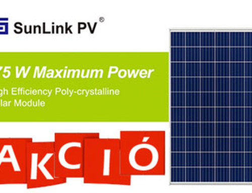 Sunlink 275 W-os napelem-akció